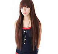 Fashion Hair Long Straight Synthetic Full Bang Wigs 3 Colors Available