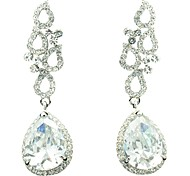 Clear Czech Rhinestone and Zircon Water Drop Earring (More Colors)