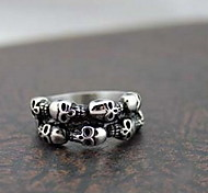 Z&X®  Punk Silver Alloy Skulls Men's  Statement Rings(1 Pc)