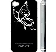 Skeleton Pattern LED Flash Light Protective ABS Back Case for iPhone 4/4S