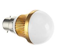 B22 3 W COB 128 LM Warm White Globe Bulbs AC 85-265 V