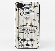 Wooden Band Protective Back Case for iPhone 4/4S