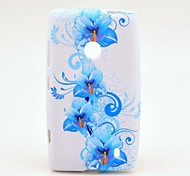 Blue Glories Pattern TPU Soft Case for Nokia Lumia N520