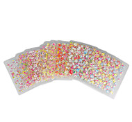 30PCS Colorful 3D Design Nail Art Stickers