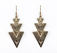 Painted Trangle Earrings