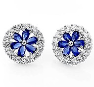 FashionClassic Round CZ Stud Earrings