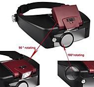 1,5 X 3X 8.5X 10X luz LED cabeza del casco de la lupa de los ojos Gafas Estilo Lupa