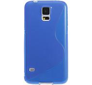 s forma de diseño transparente cubierta de la caja de plástico blando para i9600 Samsung Galaxy s5