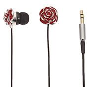Red Rose-Shaped Stereo-In-Ear-Kopfhörer