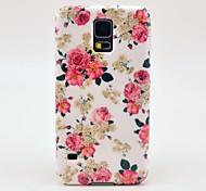 Patrón de la flor de Rose de la cubierta del estuche rígido para Samsung Galaxy i9600 S5
