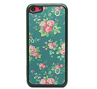 Little Peonies Drawing Pattern Hard Case for iPhone 5C