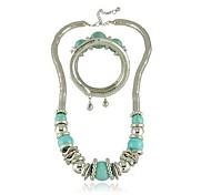 Fahion мозоль сплава turquoie ожерелье браслет ювелирных др