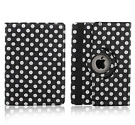 360 Degree Rotatable Round Dots Pattern Full Body Case for iPad Air