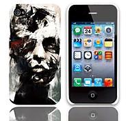Caso duro del diseño de los Bustos con paquete de 3 protectores de pantalla para iPhone 4/4S