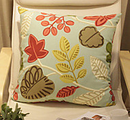 Graceful Flowers Pattern Decorative Pillow With Insert