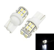 Merdia T10  20-SMD 1206 LED For   Car  White Light  License Plate Lamp / Reading Lamp(pair)