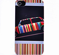 Colorful Car Pattern ABS Back Case for iPhone 4/4S