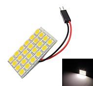 Merdia T10 24x5050SMD LED de luz blanca de la lámpara de lectura de la bombilla (12V)