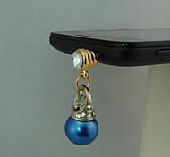 Pearl Auger Hanging Alloy Shape Anti-dust Plug for iPhone