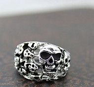 Z&X®  Gothic Silver Alloy Hollow Skulls Men's Statement Rings(1 Pc)