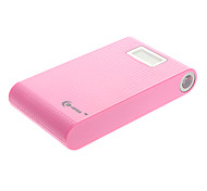 Co-crea 11000mAh Multi-output External Battery with Flashlight for Mobile Device Woven Pink