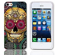 Petal Skull Design Hard Case with 3-Pack Screen Protectors for iPhone 5/5S