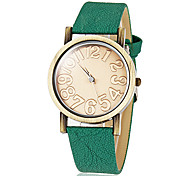 Women's Vintage Round Dial Pu Band Quartz Analog Wrist Watch