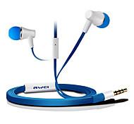 ES-300i-awei Super Bass In-Ear-Kopfhörer mit Mikrofon und Fernbedienung für Mobilephone/PC/MP3