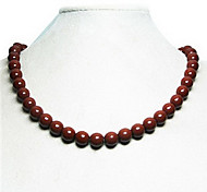 Health Caring Fashion Sphere Shaped Chain Brown Gem Power Necklace (1 Pc)