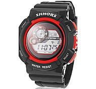 Men's Multi-Functional Digital Dial Rubber Band Wrist Watch