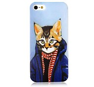 For iPhone 5 Case Case Cover Pattern Back Cover Case Cat Soft PC for iPhone SE/5s iPhone 5