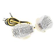 DC12V 1W decoración de la motocicleta piezas de LED Honeycomb Intermitentes Para GS (2 Piezas)
