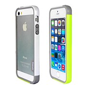 Fashion Double Color TPU Frame Bumper for iPhone5S(Yellow+White)