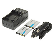 ismartdigi 630mAh batteria della fotocamera (2 pezzi) + caricabatteria da auto per SONY W630 W570 W350 WX100 WX150