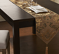 Brocade broderie d'or Polyester Chemin de Table