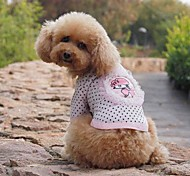 Dog Shirt / T-Shirt Green / Pink Summer Polka Dots