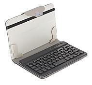 7 Zoll Bluetooth PU-Leder Ganzkörper-Fall mit Tastatur (Black and White)