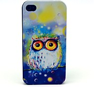 Colorful Owl Cartoon Pattern PC Hard Case for iPhone 4/4S