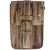 Solid Color PU Leather Double-Deck Mobile Phone Case for 7 Inch Tablet (Brown)