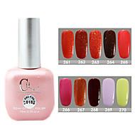 1PCS CH Soak-off Pink Bottle Astral Glitter UV Color Gel Polish NO.A11-A20(15ml,Assorted Color)