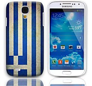 Vintage The Flag of Greece Pattern Hard Case with 3-Pack Screen Protectors for Samsung Galaxy S4 I9500
