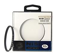 NISI 62mm MC UV Violet Protector Ultra-delgada Filtro lente recubrimiento multicapa de doble cara Ultra para Nikon Canon Sony Cámaras