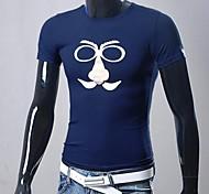 t-shirt girocollo stampa manica corta Uomo Slim (colore di stampa casuale)