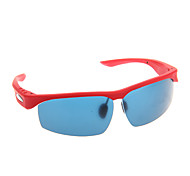 Fashionable Comfortable Convenient MP3 Bluetooth Smart Glasses (Red)