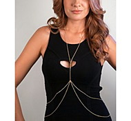 moda shixin® doble decorar mujeres aleación cadenas corporales (120cm * 2cm * 1 cm) (oro, plata) (1 unidad)