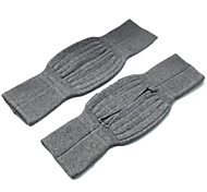 A pair of Unisex Soft and Elasticity Cashmere Wool Knee Warmer Support Warmer(Gray)