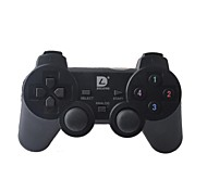 Dilong RU401 2.4GHz Dual-Shock Wireless Game Controller Joypad con receptor USB para PC (Negro)