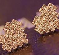 cristais lureme®full formato de coração cravo earrning
