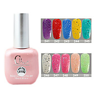 1PCS CH Soak-off Pink Bottle Astral Glitter UV Color Gel Polish NO.241-250(15ml,Assorted Color)