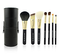 make-up pour vous 7pcs portable maquillage noir brosse ensemble